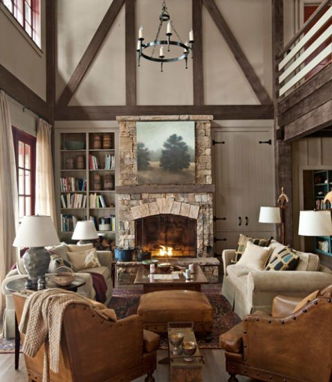 Rustic Lake House Decorating Ideas - Cabin Decor Ideas on Rustic Traditional Decor  id=89718