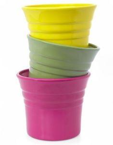 Cachepot Products   Flower Pot Containers pink green and yellow pots  Bright