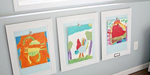 Displaying Kids Artwork - How To Display Kids Artwork