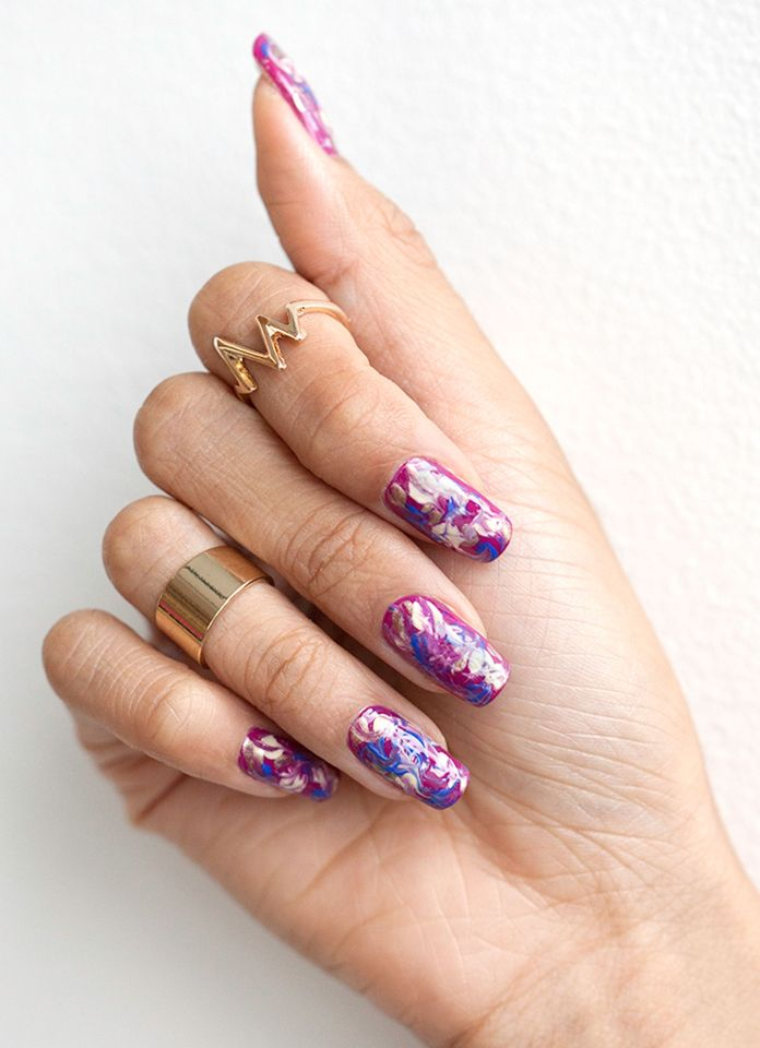 Nail Art How To Marble Manicure