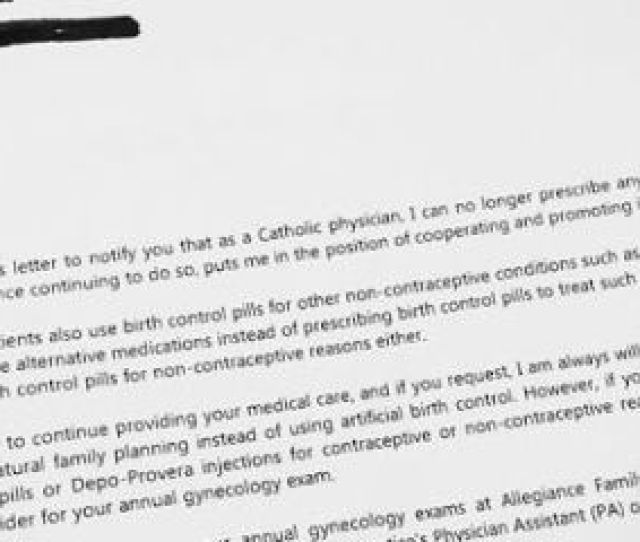 Catholic Doctor Denies Contraceptives To Patient Doctor Wont Give Birth Control Because Shes Religious