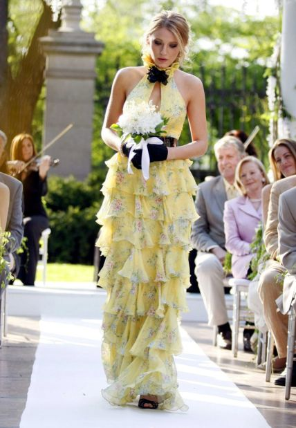 Serena Van Der Woodsen wearing ruffles in Gossip Girl
