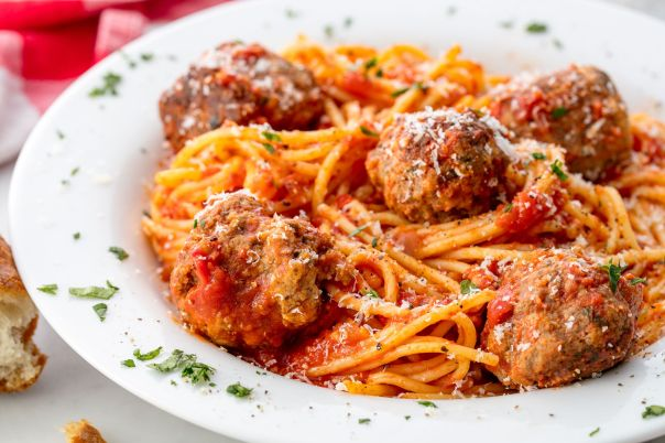 Image result for meatball and shrimp pasta