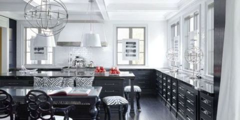 Image result for black and white kitchen pictures