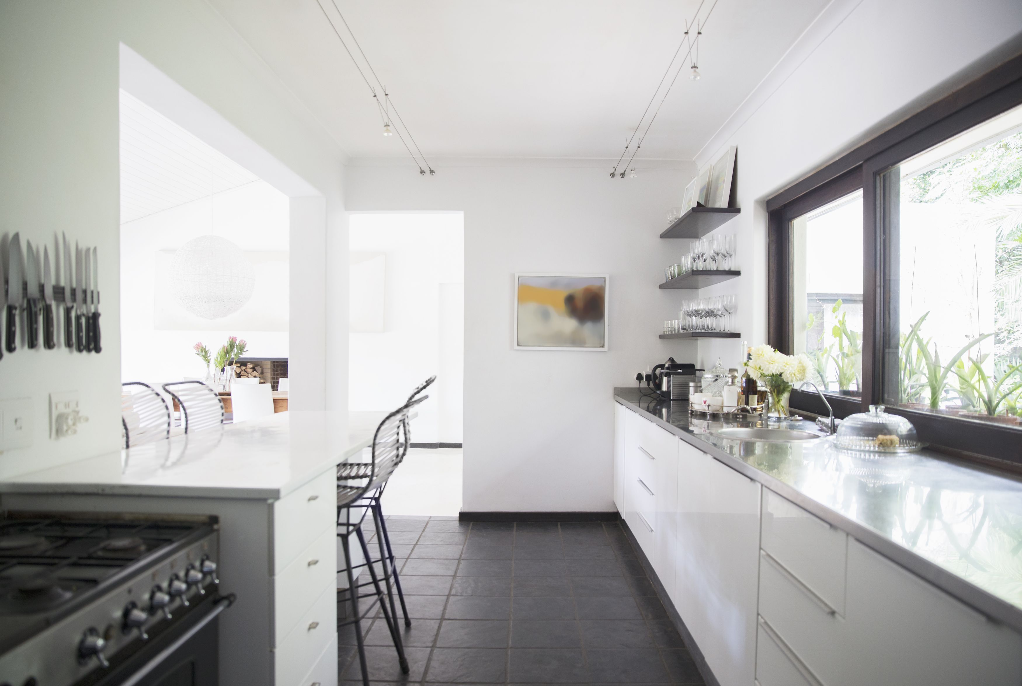 Best Kitchen Gallery: 17 Galley Kitchen Design Ideas Layout And Remodel Tips For Small of Small White Galley Kitchen on rachelxblog.com