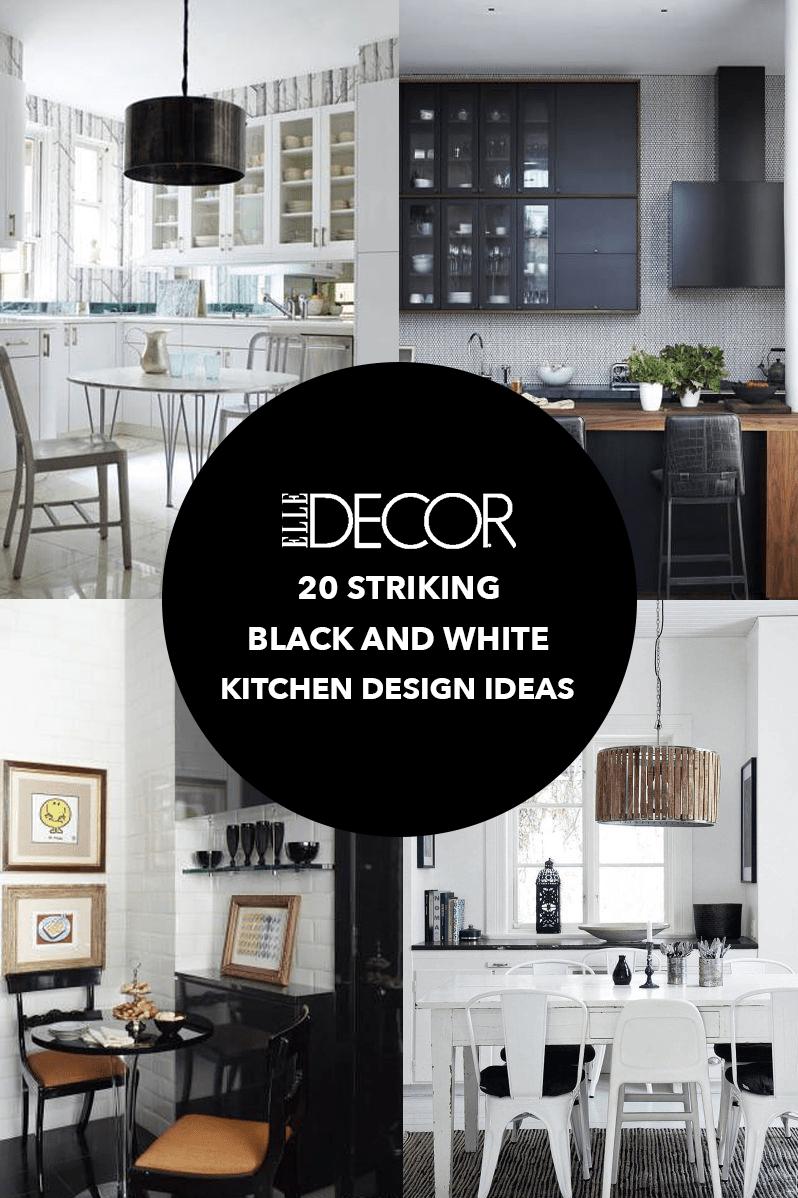 20 black and white kitchen design & decor ideas