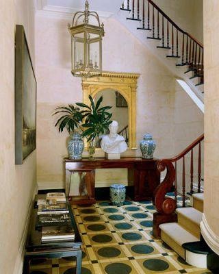Miles Redd Interiors Of Greek Revival House NYC Brick Mansion