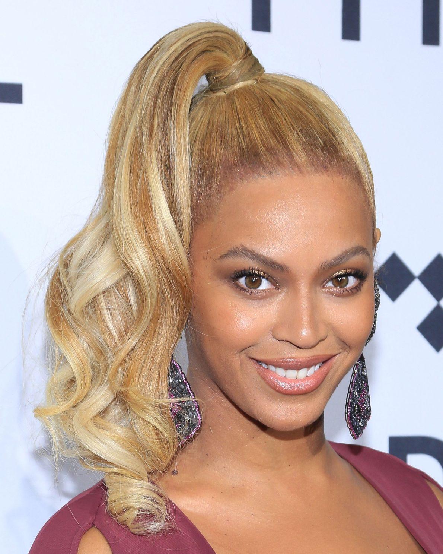 Image result for high ponytail golden hair