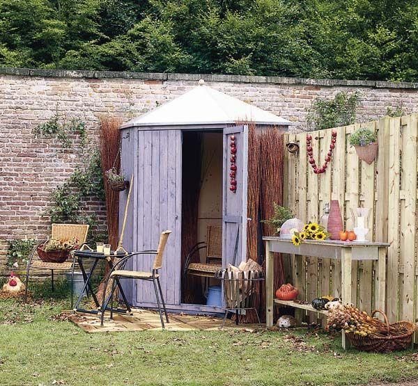 casetas para organizar el jardin