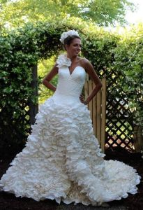 Toilet Paper Wedding Dress Winners of 2015   Best DIY Wedding Dresses image