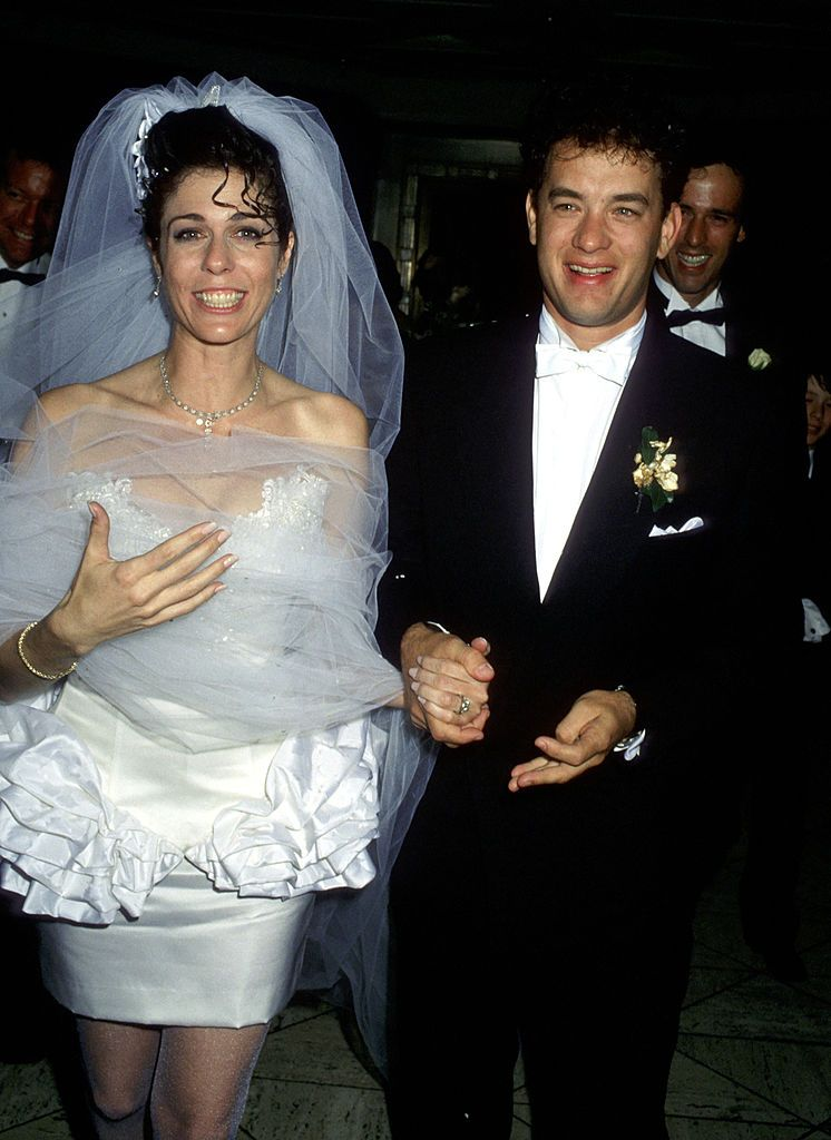 tom hanks and rita wilson - 1988 wedding