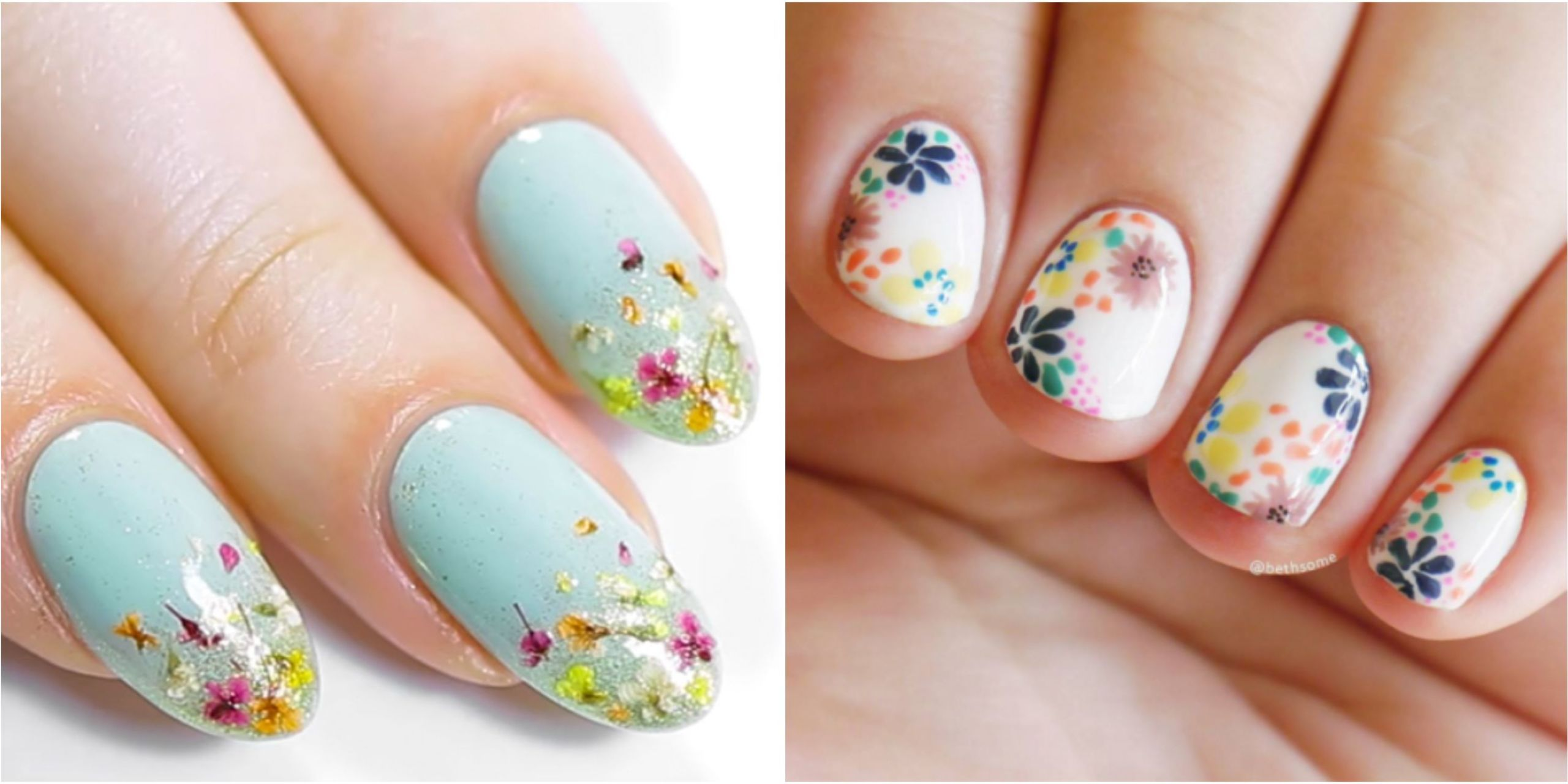 25 Flower Nail Art Design Ideas - Easy Floral Manicures ...