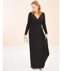 Mother of the Bride Dresses   Brides Mother Dresses make me over black faux wrap dress