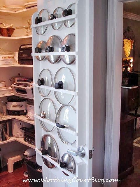 pot lid organizers kitchen organizing