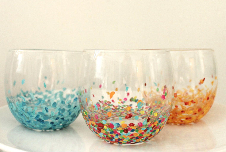 drinking glass decorating ideas