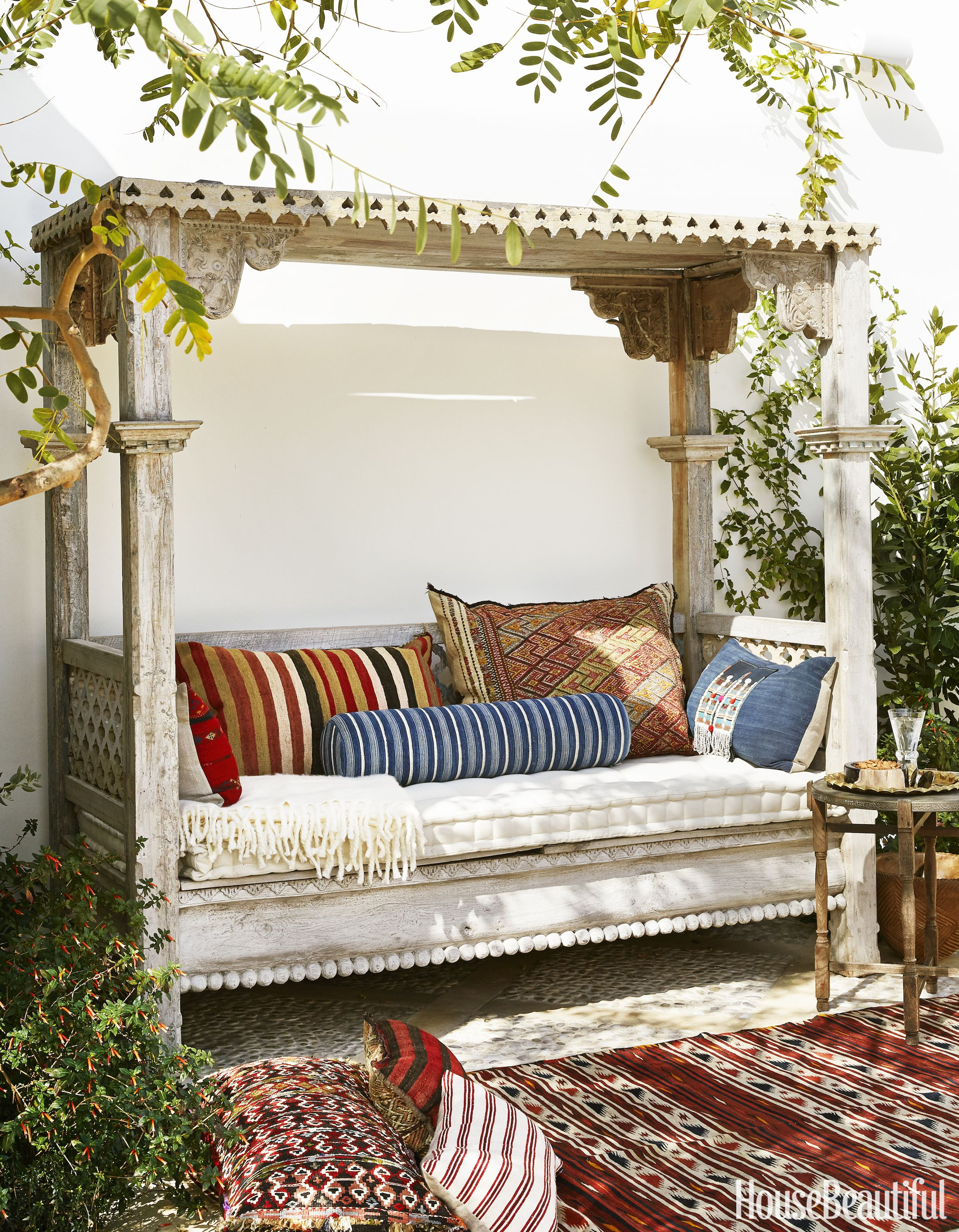 35 Backyard Design Ideas - Beautiful Yard Inspiration Pictures on Belham Living Lilianna Outdoor Daybed id=83549