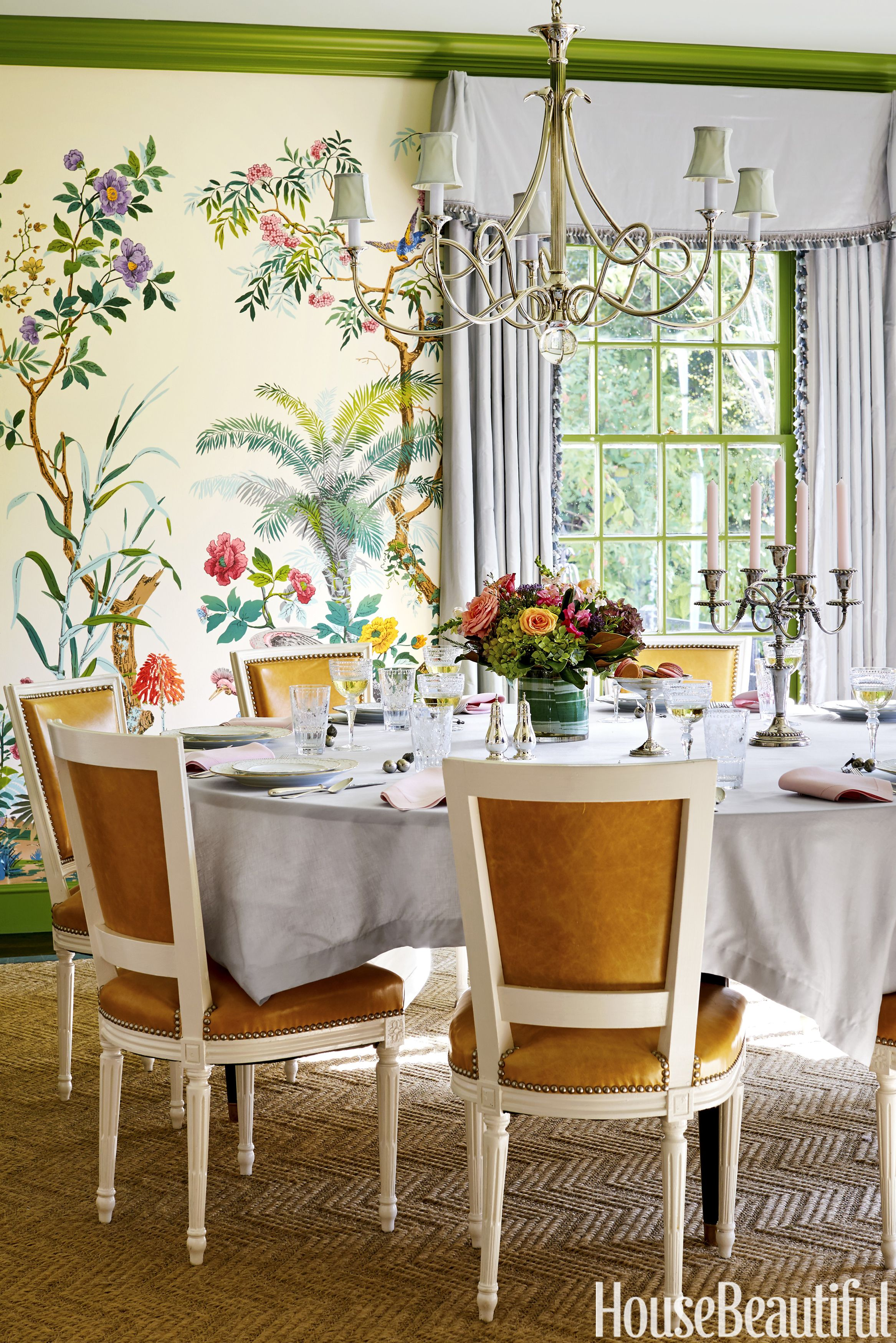 50 Best Dining Room Decorating Ideas  Furniture  Designs and Pictures The dining room now bursts with high octane design  from the Zuber  wallpaper to