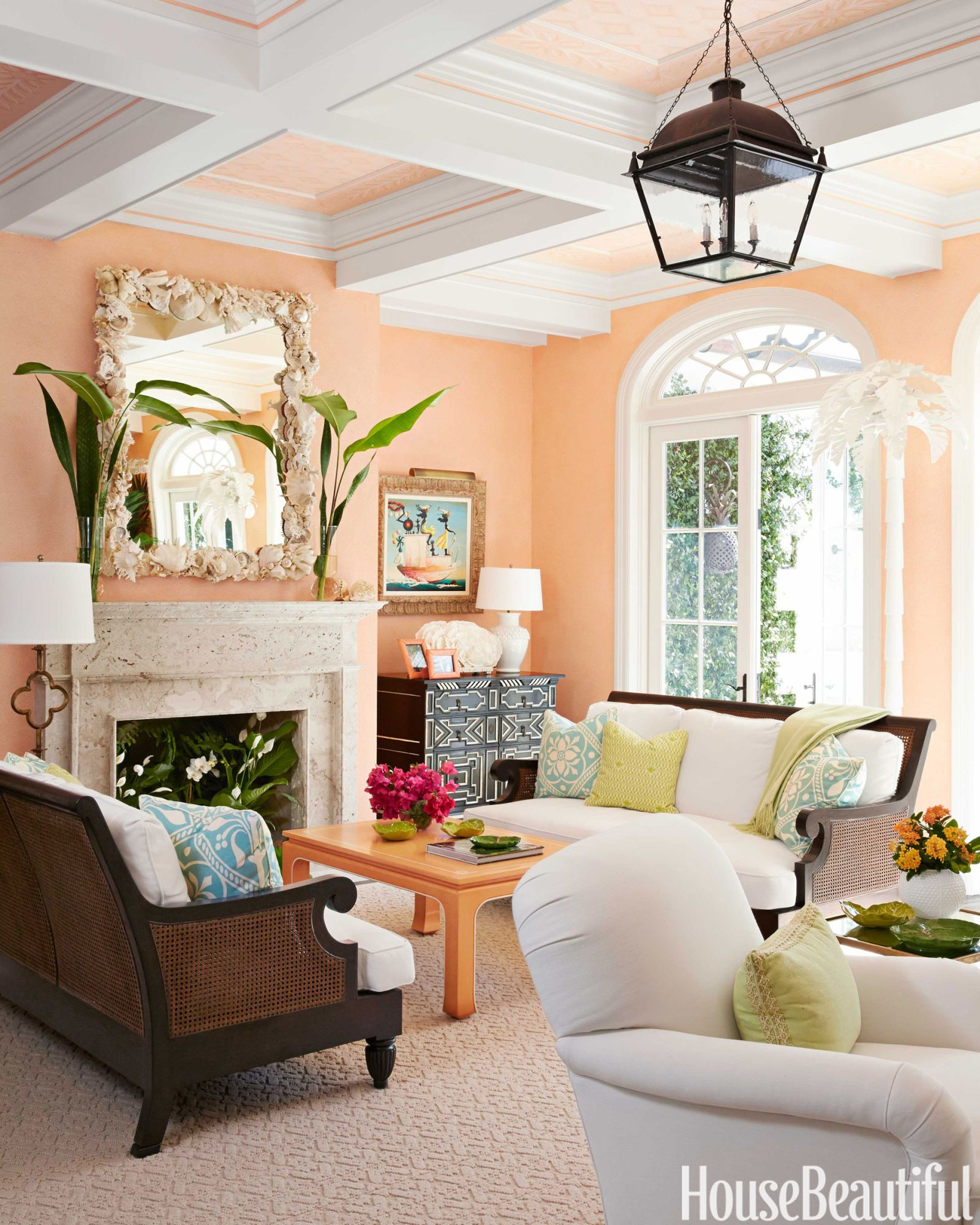 15 Best Living Room Color Ideas - Paint Colors for Living ... on Colourful Living Room  id=18430