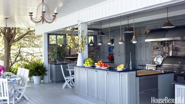 14 outdoor kitchen design ideas and pictures - al fresco kitchen styles