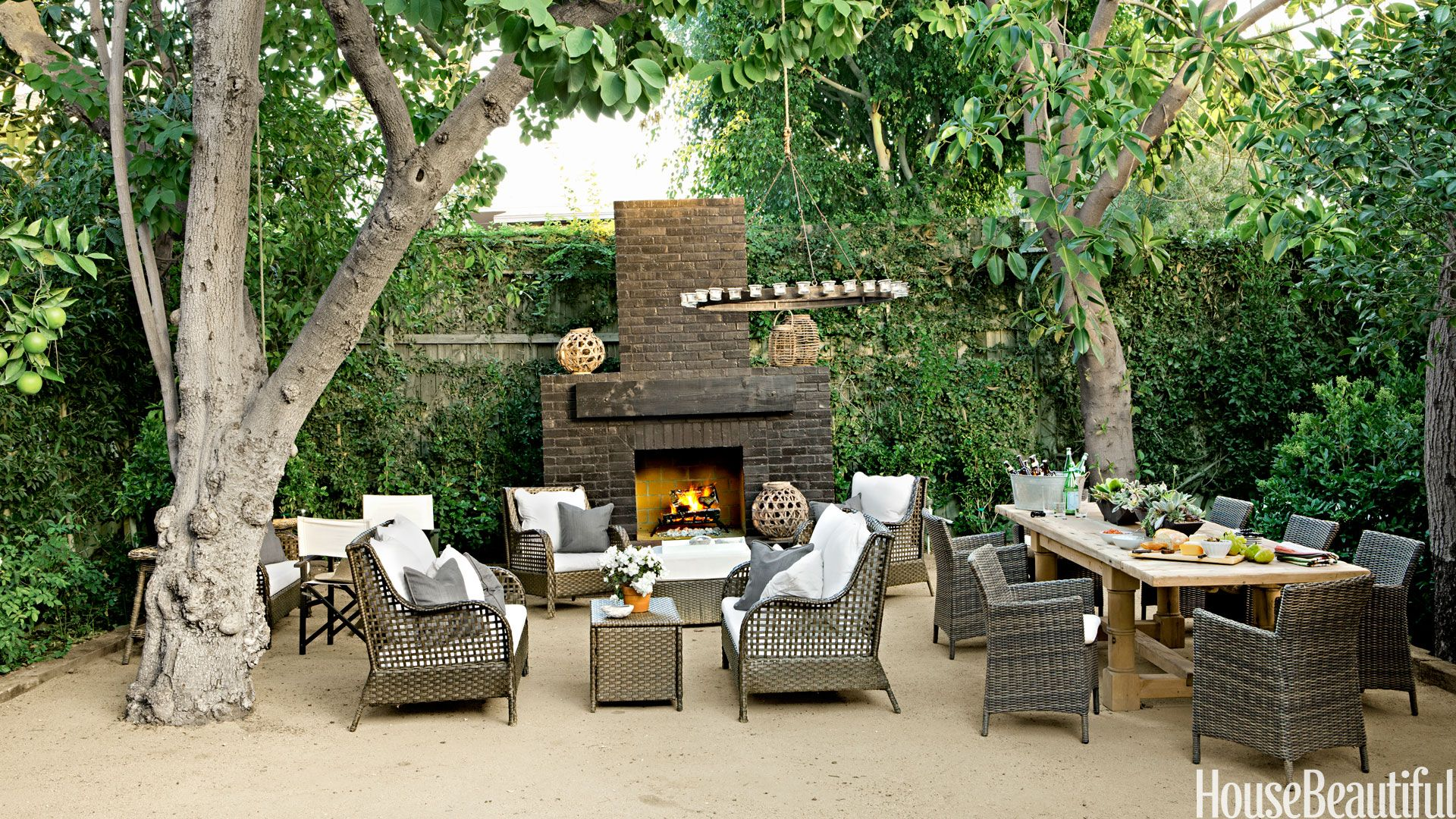 30 Best Patio Ideas for 2018 - Outdoor Patio Design Ideas ... on Small Outdoor Fireplace Ideas id=15228
