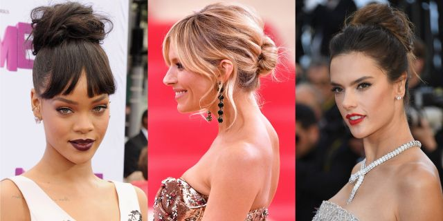 best messy bun hairstyle ideas - celebrity messy buns we