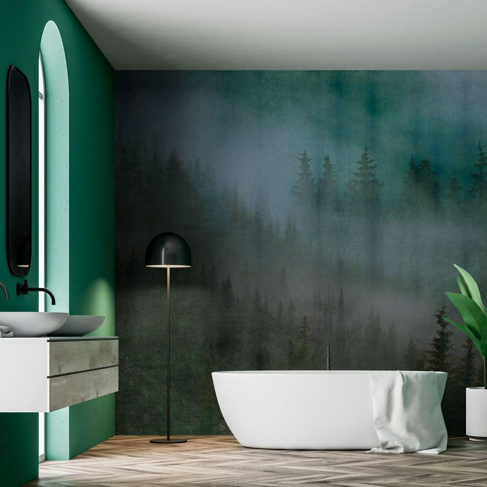 Impermeabile e studiata per ambienti umidi. When Wallpaper Conquers The Bathroom Room