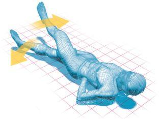 Illustration of scissors kick exercises.