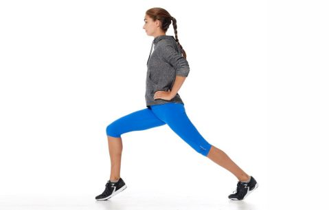 Correct form for lunge with calf raise