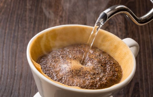 Pour over coffee brew