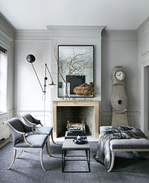 30 Black White Living Rooms That Work Their Monochrome Magic: Gray And White Living Room Decor