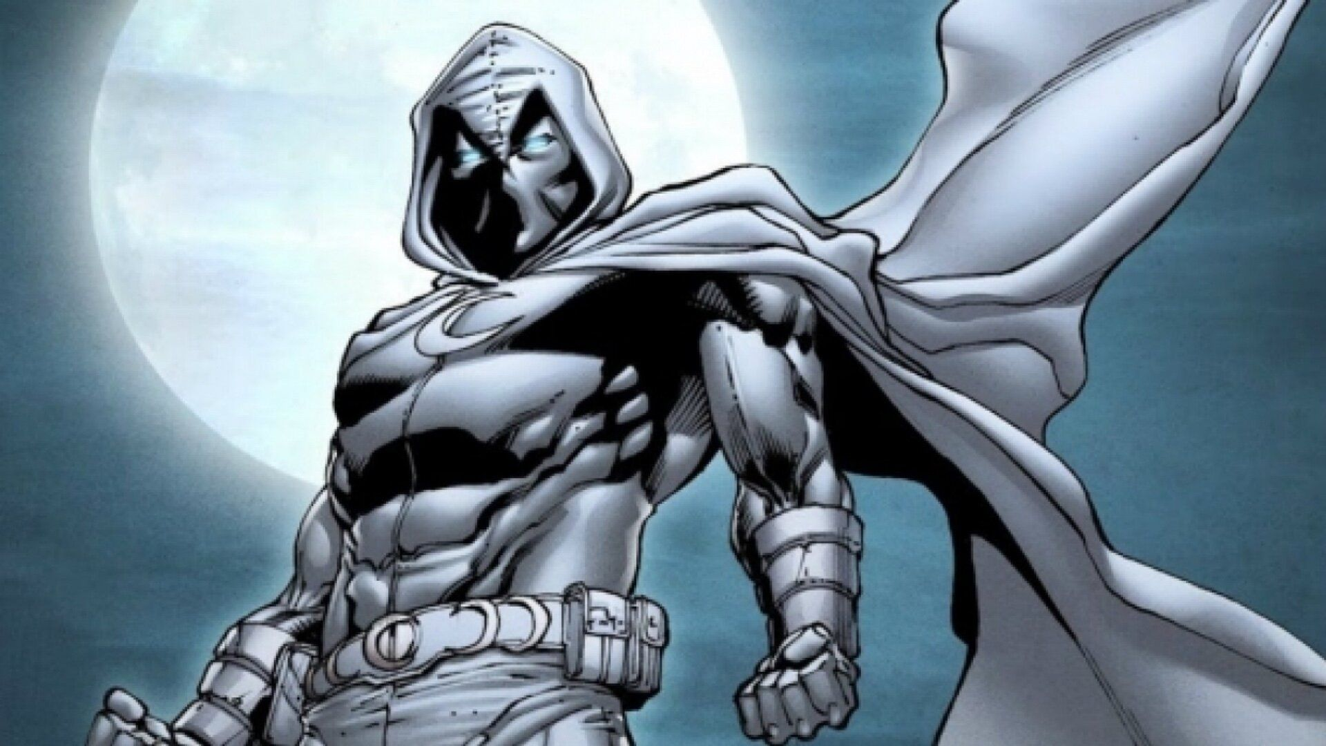 Moon Knight stands before the Moon as my second character recommendation.