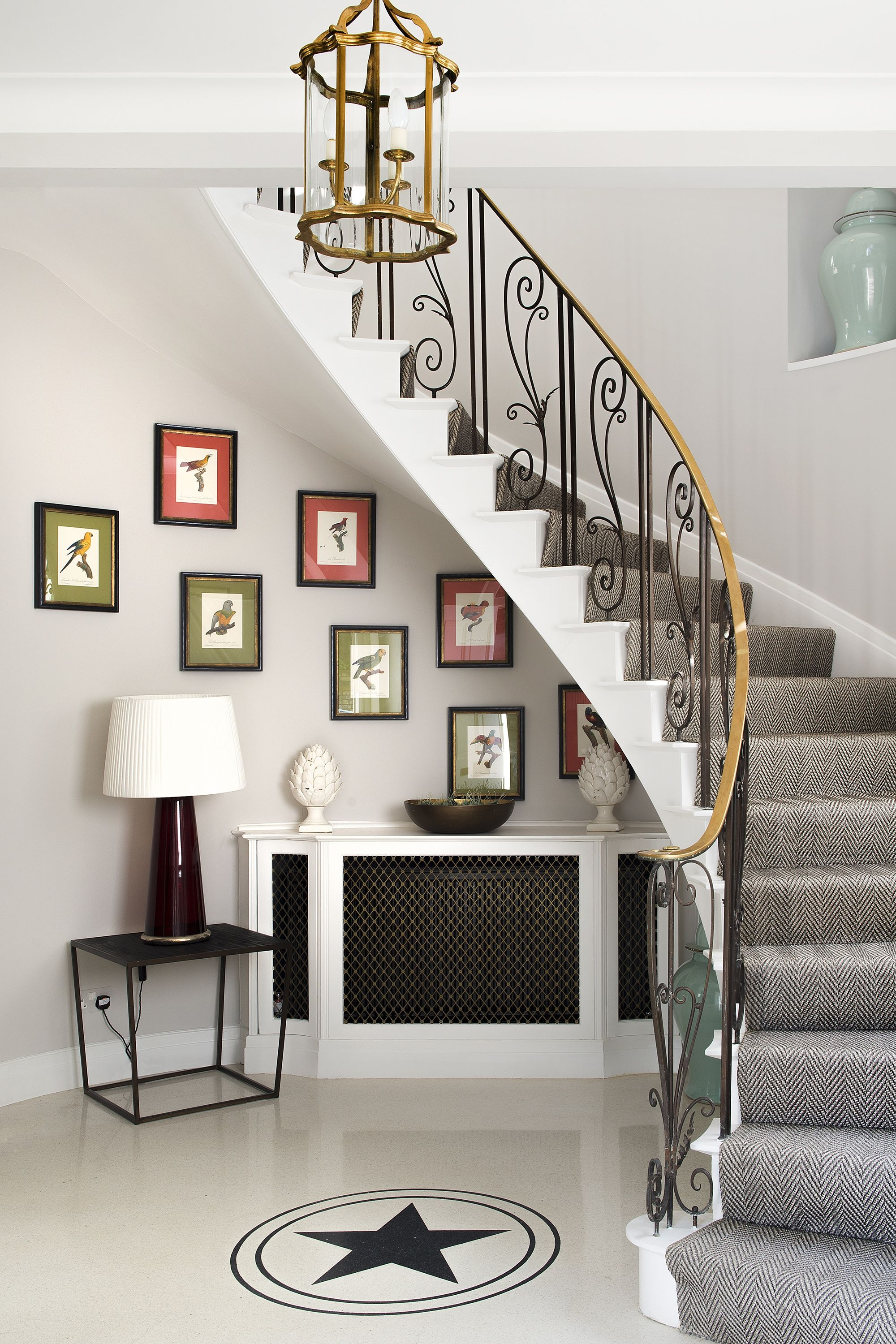 27 Stylish Staircase Decorating Ideas How To Decorate Stairways | Pop Design For Stairs Wall | Frame Up | Main Entrance | Wall Paper | Entry Wall | Luxury