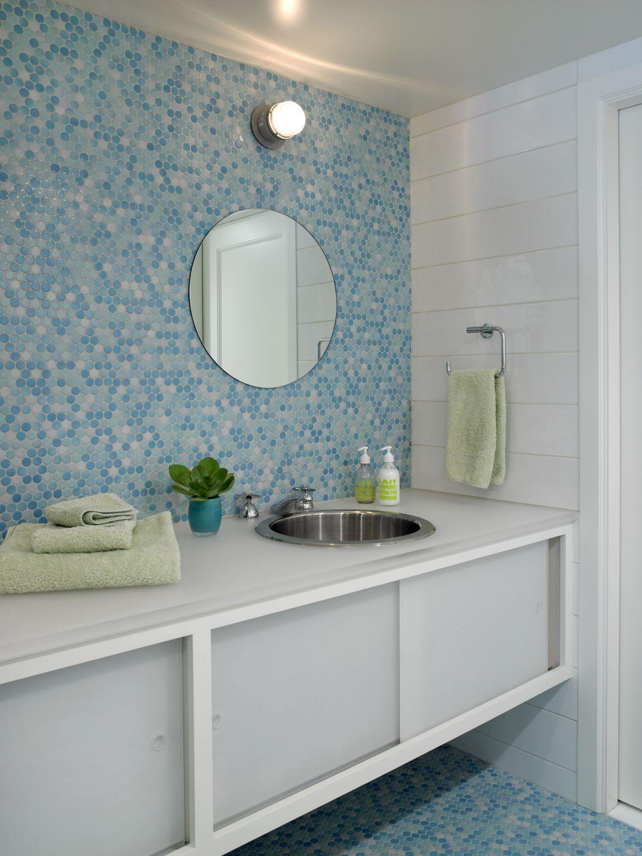 33 Bathroom Tile Design Ideas - Unique Tiled Bathrooms on Bathroom Tile Pattern Design  id=73994
