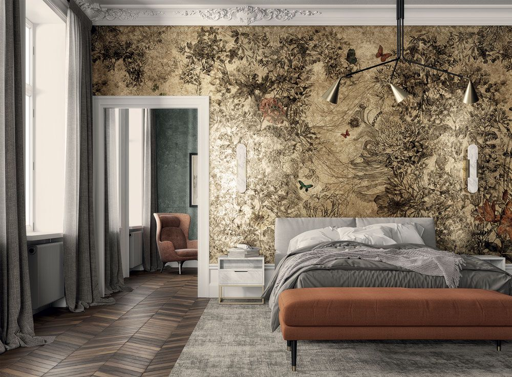 Le foto di grande formato esprimono un grande valore decorativo e si adattano. Goldenwall 2020 Le Nuove Carte Da Parati Di Inkiostro Bianco