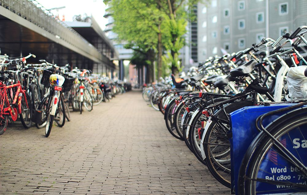 promote city riding bike racks
