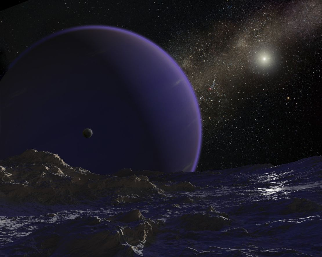 artist's concept of hypothetical planet 9
