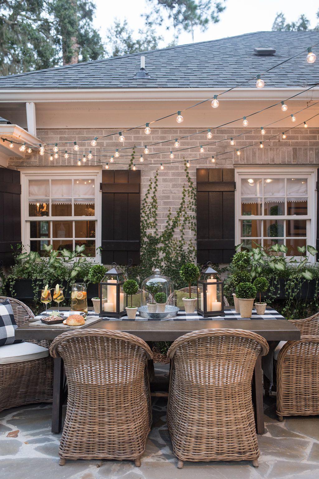 32 Backyard Lighting Ideas - How to Hang Outdoor String Lights on Backyard String Light Designs id=29643