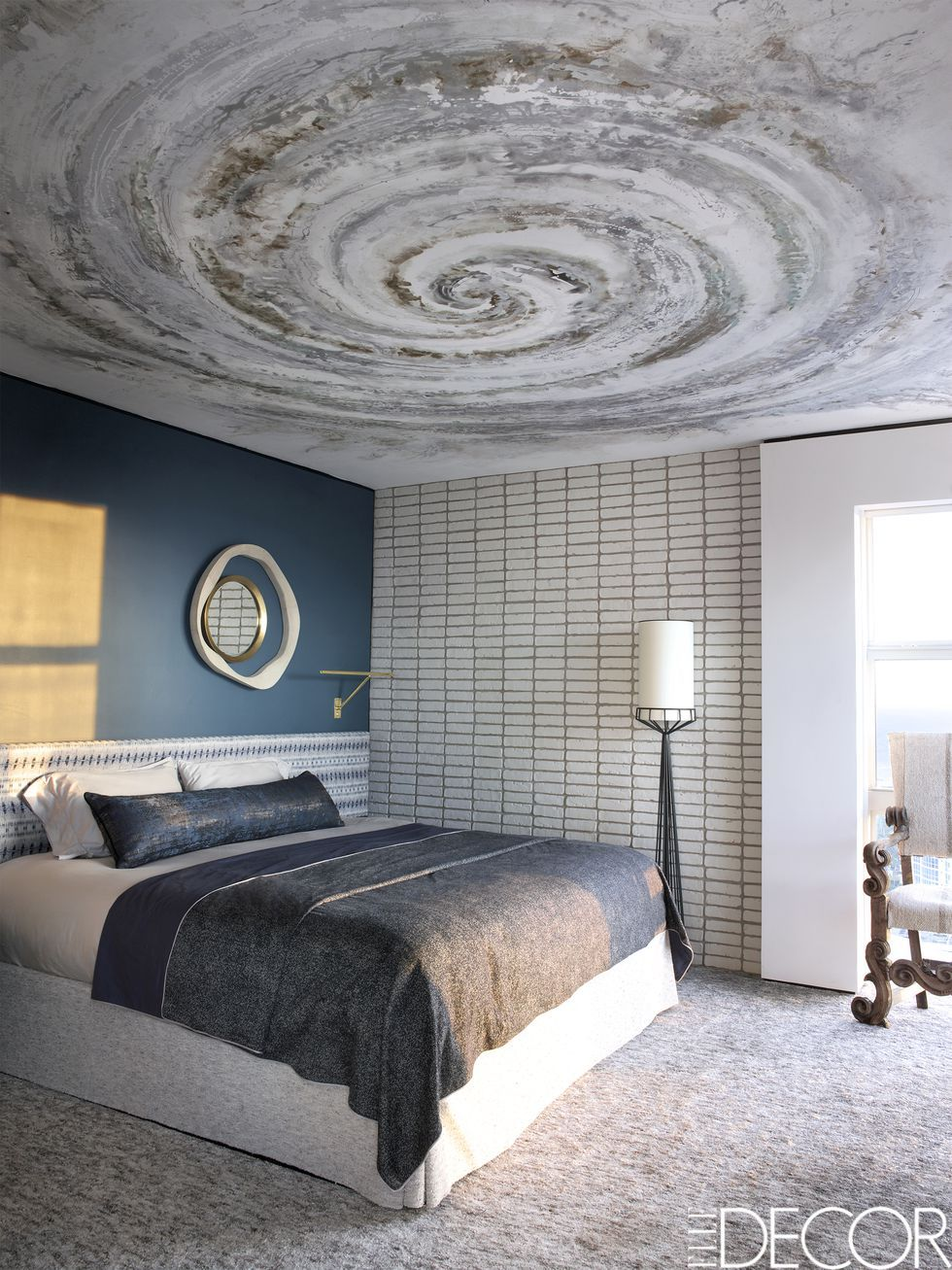 If you want to up the drama, try a real metal tile in bronze or copper. 15 Bedrooms With Statement Ceilings Stunning Ceiling Designs