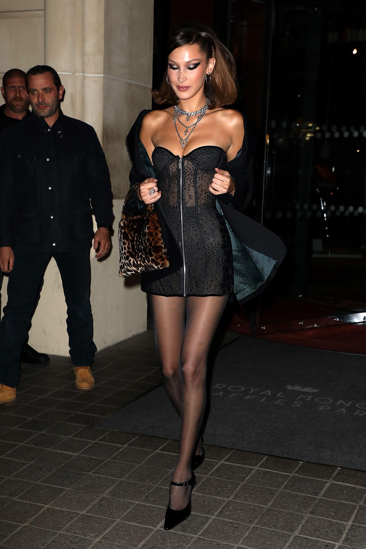 Short Dress Black Sheer Top