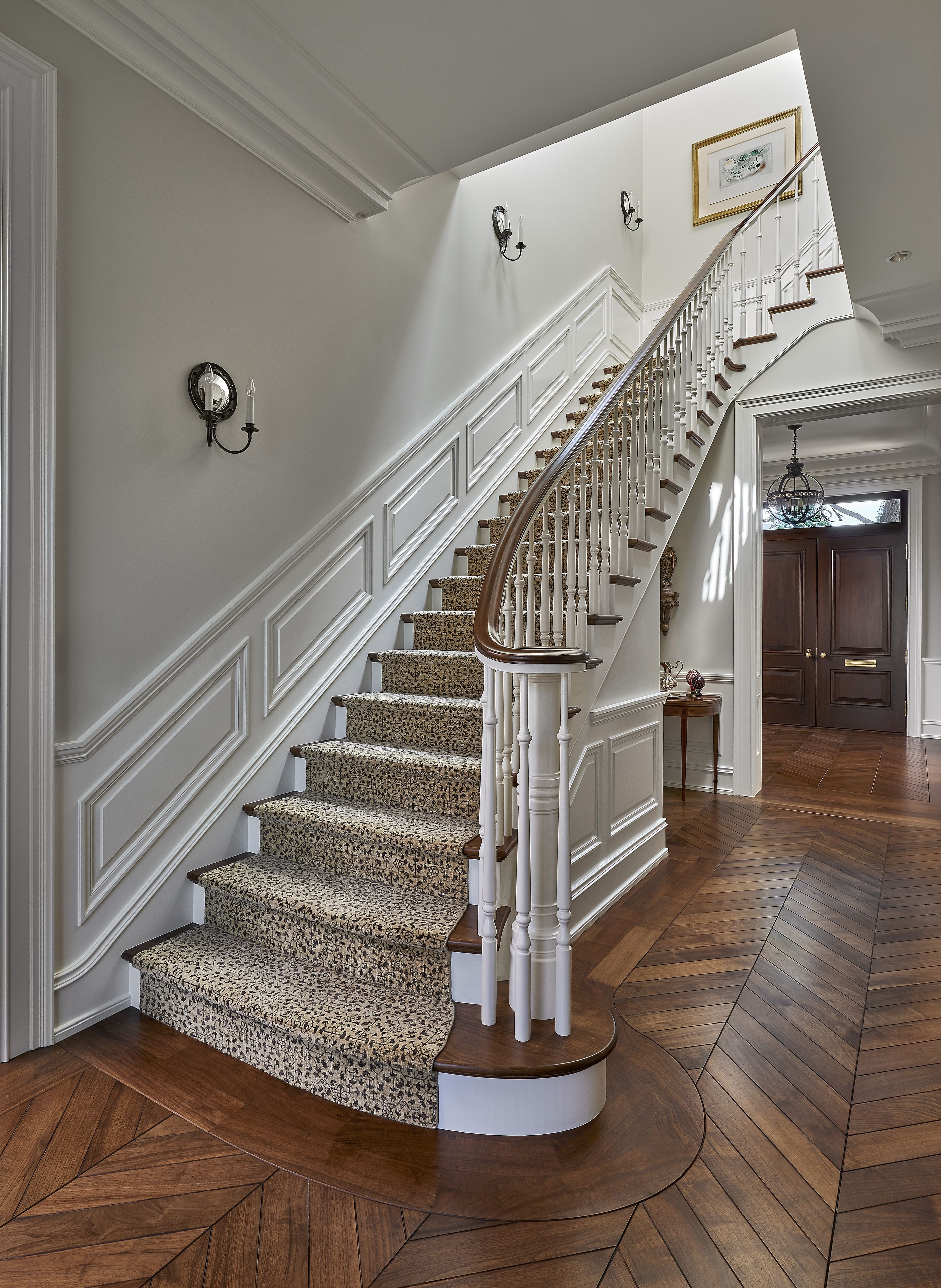 25 Stunning Carpeted Staircase Ideas Most Beautiful Staircase | Rustic Carpet Stair Treads | Sisal Carpet | Titanium Heather | Naturalarearugs Rustic | Carpet Runners | Farrel Moroccan