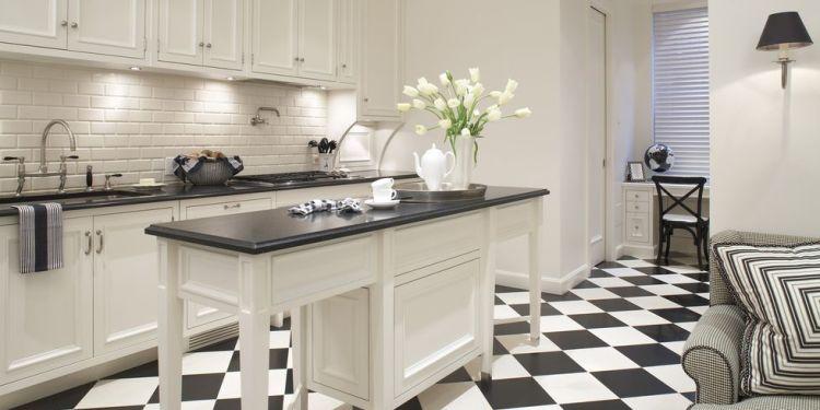 Black and White Checker Board Flooring