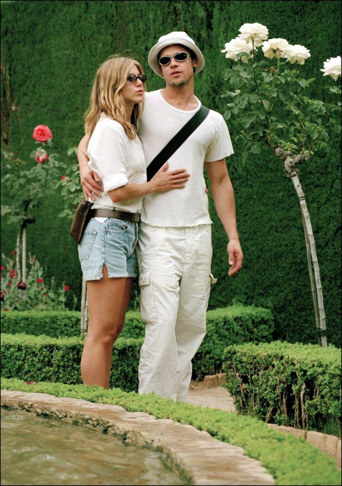 Jennifer Aniston and Brad Pitt in Granada.