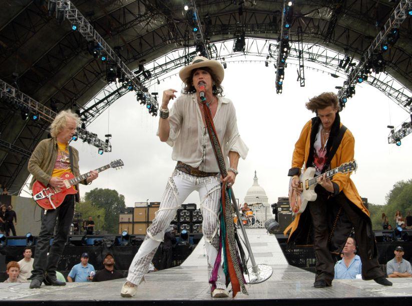 NFL Kickoff Live 2003 Presented By Pepsi Vanilla - Aerosmith Rehearsal