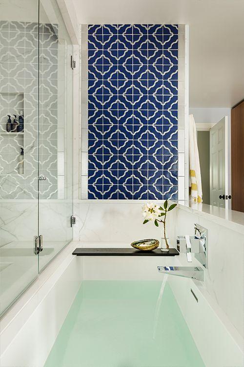 33 Bathroom Tile Design Ideas - Unique Tiled Bathrooms on Bathroom Tile Pattern Design  id=19129