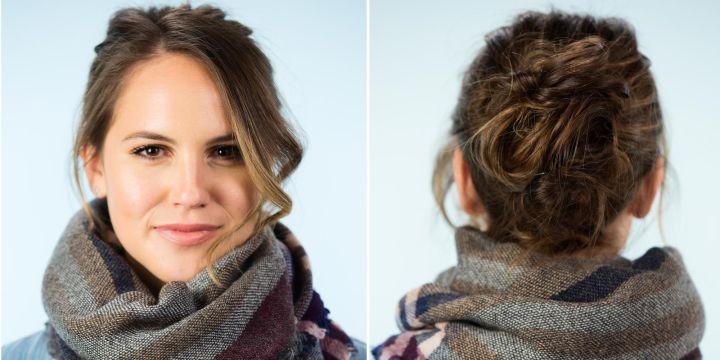 Để mặc 6 kiểu tóc siêu dễ với khăn quàng cổ