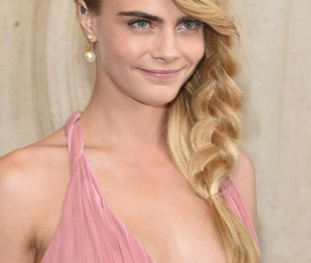 Cara Delevingne Beauty Chameleon Looks Totally Different With A Long Side Plait