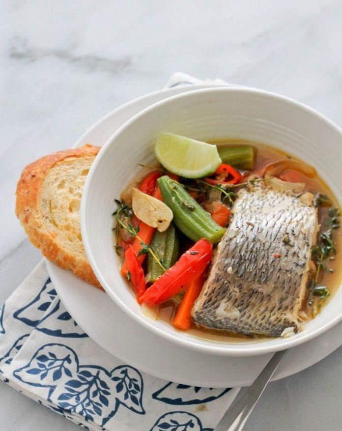 caribbean steamed fish