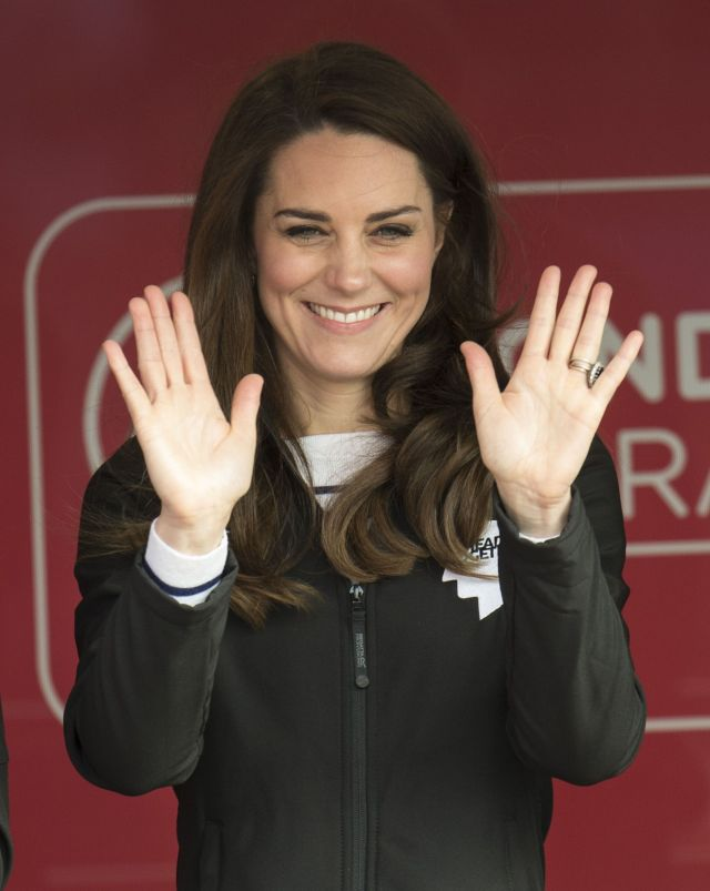 the duke  duchess of cambridge and prince harry attend the virgin money london marathon