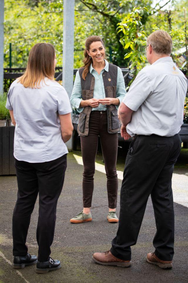 the duchess of cambridge visits garden centre in norfolk