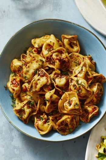 chilled tortellini romesco